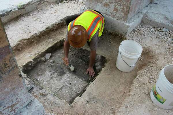 Archaeologists conducting investigative digs in Alamo Plaza in 2016 reported finding a child's tooth in the area. It was reburied with a ceremony in Native American tradition. A Native American group now is locked in a dispute with the city and Texas General Land Office over a cemetery designation and a protocol for handling of any human remains found during construction of the massive, $450 million public-private Alamo expansion project.