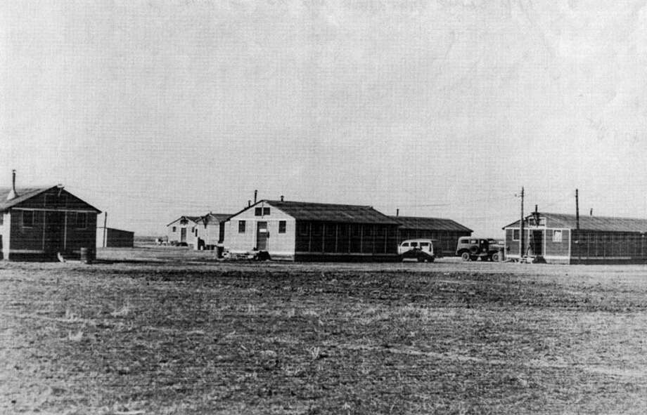 "Texas Tech's Southwest Collections/Special Collections LibraryA photo found at Texas Tech shows the Plainview Pre-Glider School barracks. The back of the photograph notes: ""Plainview Pre-Glider""; then ""To West - Hdqtr to right."" The photo is looking to the west."