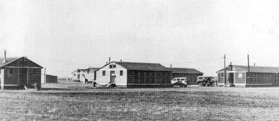 Texas Tech University Southwest CollectionsThis photograph from 1942 shows several of the buildings in use at the Plainview Pre-Glider School. It was operated under contract with the U.S. Army by Clent Breedlove at Plainview's prewar airport at Finney.