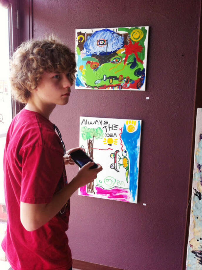 Logan Adair, 16, of Hale Center has a small studio and displays his art at The Wall Gallery, 803 Broadway. Photo: Sally Gubser | Courtesy Photo
