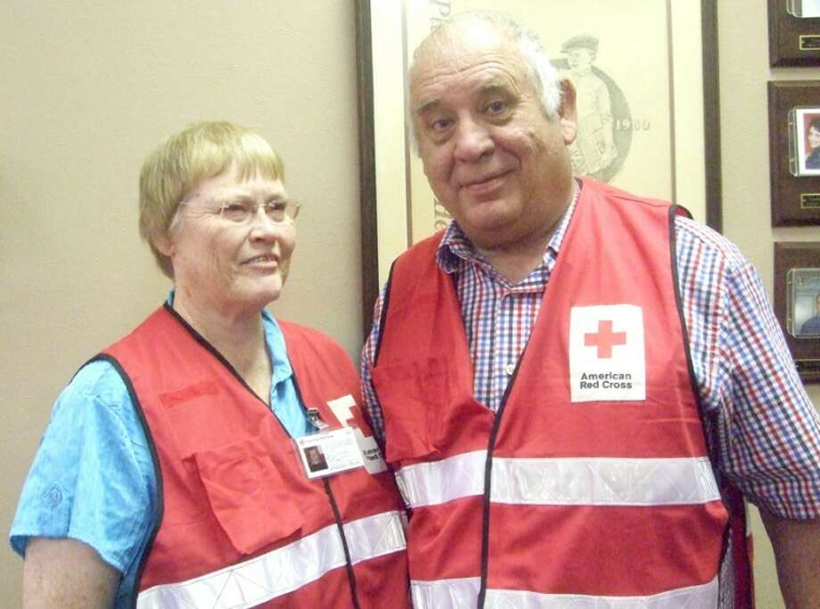 Jessica Thornton/Plainview HeraldAmerican Red Cross volunteers Stan and Betty Foster hope other volunteers come forward to help with disasters in the area.