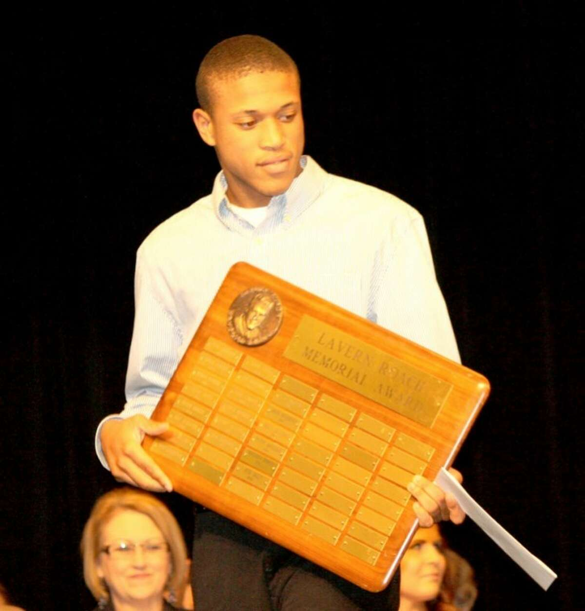 Jan Seago/Plainview ISDJosh Smiley was recognized as winner of the LaVern Roach Memorial Award during the PHS academic awards ceremony.