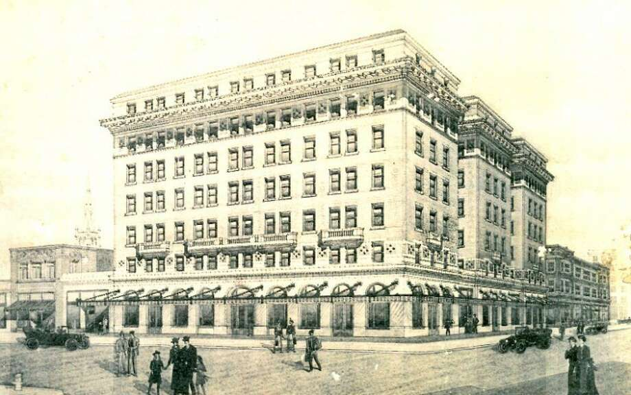 An architect's drawing shows the grand Ellerd Building that was to be built in 1915 at the northeast corner of Pacific and Third streets (now Broadway and Seventh). Instead, brothers John J. and Reuben M. Ellerd built a more modest structure. That building, which still stands, later served as offices for the Texas Land and Development Co. Both brothers were slain and the killers never brought to justice. Photo: Courtesy Photo Jeanie Pennell