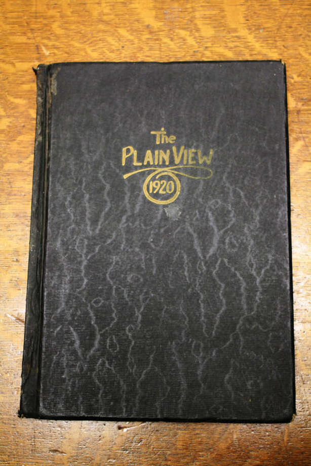 "The oldest copy of ""The Plain View"" found is Volune 6, 1920-1921. Photo: Courtesy Photo/Jennifer Riley"