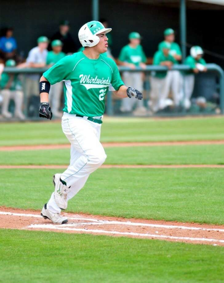Floydada's Hunter Galvan watches his fly ball during last weekend's area round playoff game against Forsan in Lubbock. The Whirlwinds won that game to become the first team in school history to advance to the third round of the playoffs. They'll meet Bushland ni a best-of-3 series at West Texas A&M's Wilder Park in Canyon beginning at 7:30 p.m. Friday. The series resumes at 1 p.m. Saturday. Photo: Summer Morgan/Plainview Herald