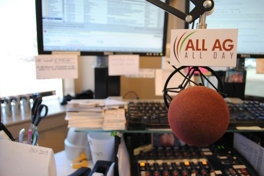 Ryan Crowe./Plainview HeraldRadio station KFLP broadcasts an all agricultural news format each day from its downtown Floydada studio.