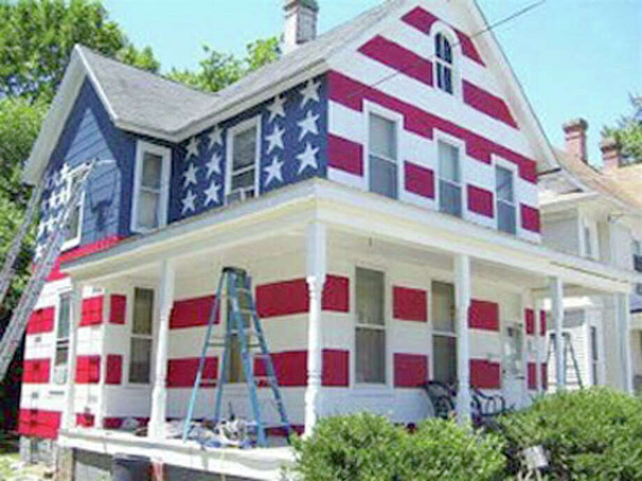 This guy was told by his homeowners association that he could not fly the American flag in his yard. This was his response. Photo: Courtesy Photo