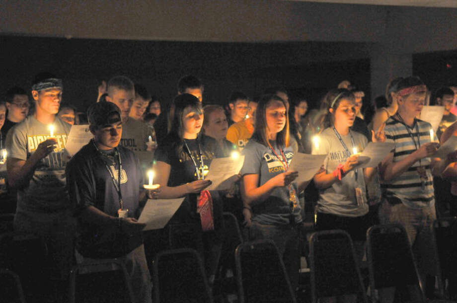 Wayland Baptist University PhotoNew students take part in the annual Initiation of the Flame during Koinonia activities.