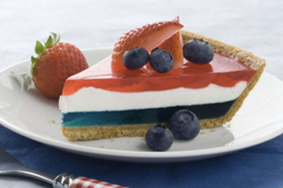 Courtesy PhotoThis patriotic pie is created with red and blue JELL-O and Cool Whip.