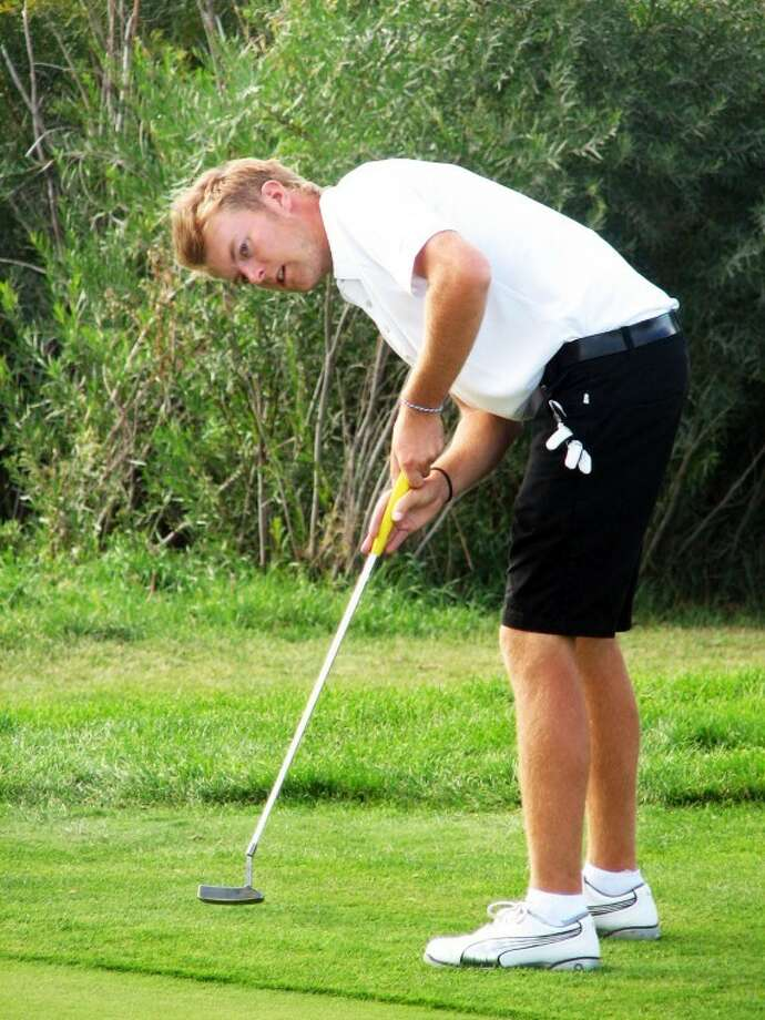 Wayland's Anders Ellingsberg of Norway shot a 78 Wednesday at the NAIA Men's Golf National Championship, one shot behind Ryan Connolly's team-low 77. Photo: Wayland Baptist University Photo
