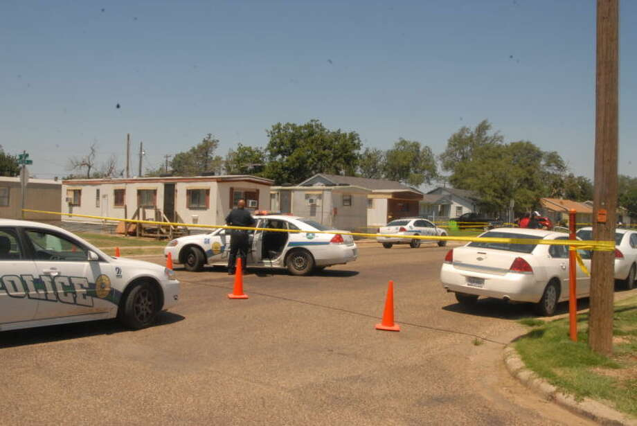 Possible crime scene at 13th and Smyth on Friday, Aug. 2, 2013, after two bodies are found inside a mobile home.