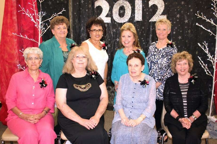 Jan Seago/Plainview ISDPlainview ISD retirees include Beth Finley (seated, left), Christie Hightower, Patti Robinson, Cynthia Gregory, Arlene Irlbeck (standing, left), Yolanda Vera, Stephanie Thompson and Tonya Stokes.