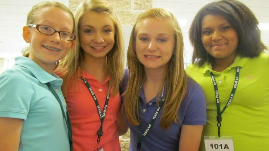 Courtesy PhotoColti Wright, Kennady Johnson, Layne Mustian andChantal Flores placed placed second overall in Intermediate HealthyLifestyles at the Texas 4-H State Round-Up.