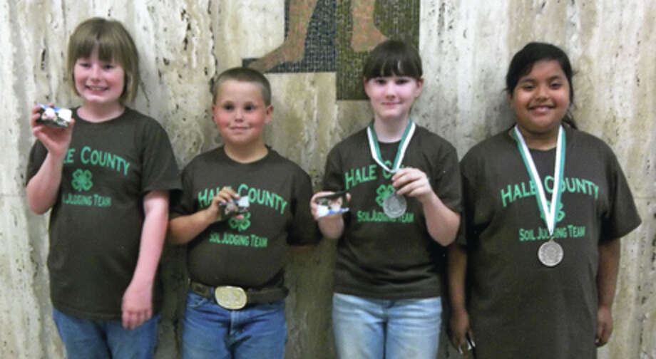 Courtesy PhotosLubbock County hosted the District 2 4-H Soil Judging contest, with Hale County 4-H sending junior and intermediate teams and a senior individual. The junior team took first place. It includes Camrie Looney (left), Blaise White, Hannah Hooper (second high point individual) and Isabel Campos (third high point individual).