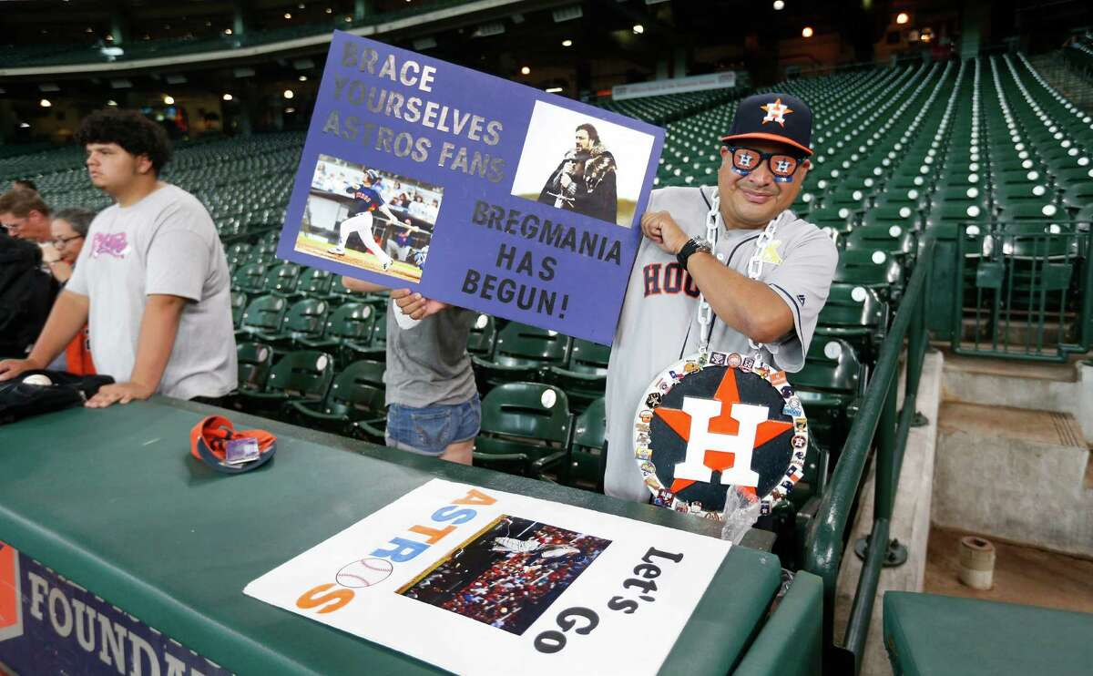 Even before batting practice had been completed Monday night, Bregmania was making its presence felt at Minute Maid Park.