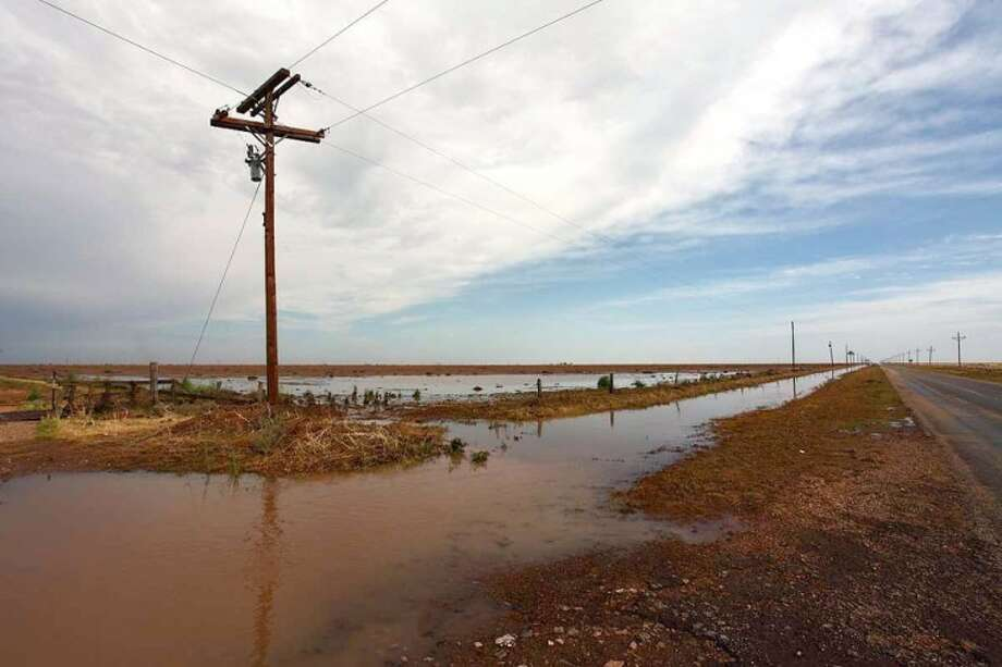 This field south of Silverton along State Highway 207 was flooded when the area received an estimated 10.5 inches of rain over a four-hour period Monday night and Tuesday morning. Photo: Courtesy Photo/National Weather Service