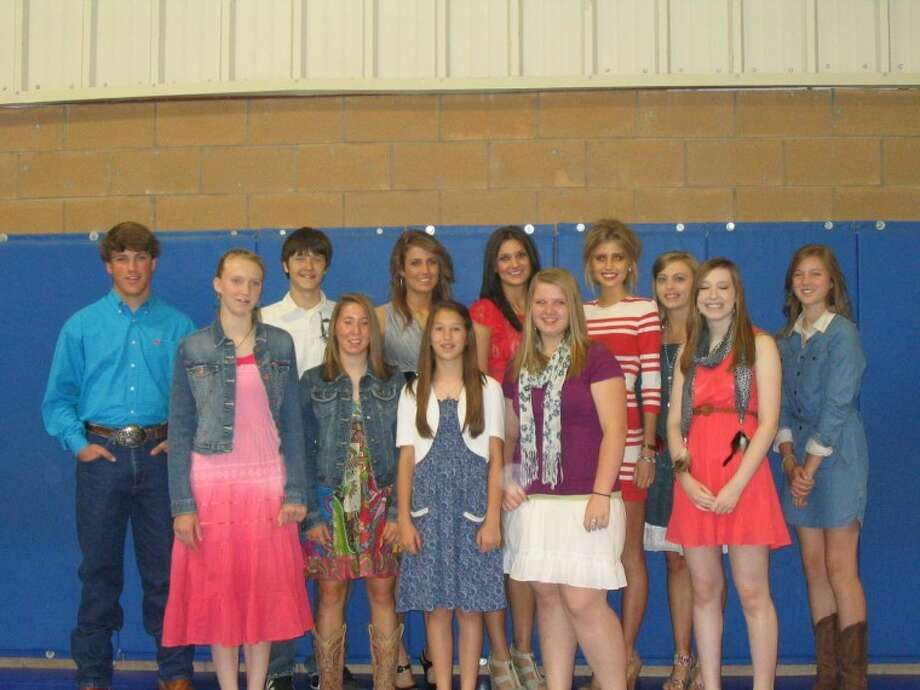 Shelly Smith/Plainview Christian High SchoolPlainview Christian High School recognized students who had the highest averages for the entire school year during the annual awards assembly on May 23. The subject areas included art, computer, English, history, math and science. Honorees included Sara Vanderleek (front left), high school financial freedom; Jordan Hooper, ninth grade, English, biology and computer; Hadley Hooper, seventh grade, science and pre-algebra; Emily Browning, eighth grade, algebra, art, English, IPC and history; Jennifer Cummins, high school art; Branden Graves (back left), 10th grade, world geography; Kenneth Landtroop, ninth grade, geometry and history; Rachel Masten, 11th grade, advanced math, physics, English III, Spanish II; Lauren Johnson, 12th grade, history; Cristen Bothwell, 11th grade, government; Hannah Smith, 10th grade, English II, Algebra II and chemistry; and Crosslyn Lusk, seventh grade, history and English. Not shown are Edgar Martinez, 10th grade, Spanish I; and Jacob Hackett, 10th grade, chemistry.