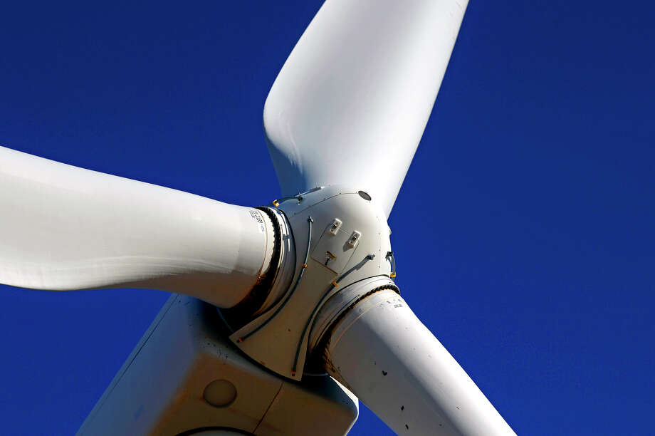 Wind turbine in action Tuesday, Oct. 27, 2015, north of Stanton, Texas. James Durbin/Reporter-Telegram Photo: James Durbin / © 2015 Midland Reporter Telegram. All Rights Reserved.