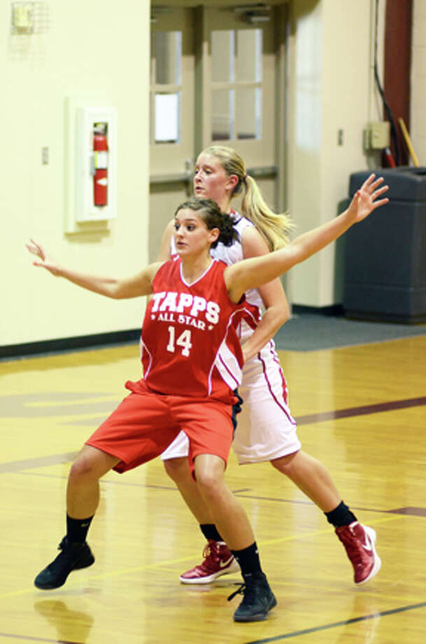 PCHS senior Lauren Johnson defends a Red South player at the TAPPS All-Star game last Saturday in San Antonio. Photo: Courtesy Photo By Cathy Landtroop