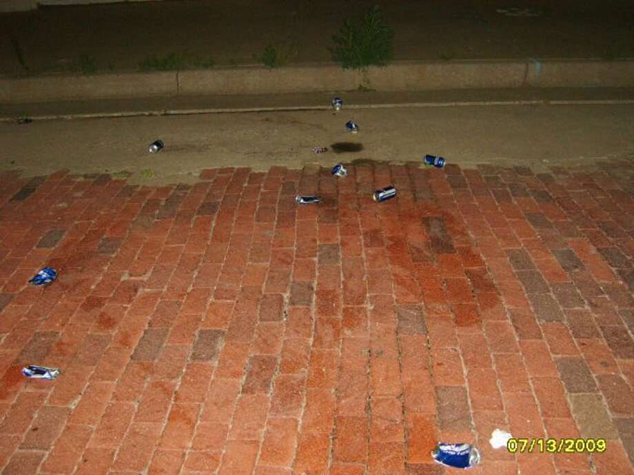 """Beer cans recently left behind after large crowds """"drag"""" Broadway. The crowds also reportedly cause lots of noise late on Sunday nights, disturbing downtown residents. Photo: Courtesy Photo"""