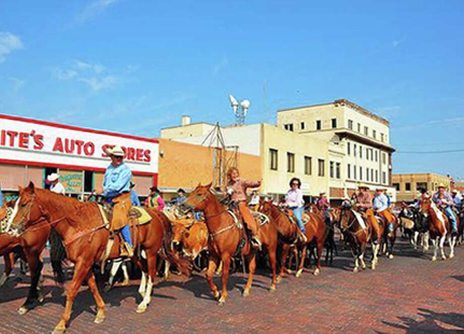 Real life cowboys and cowgirls will live up to a Texas tradition Saturday with the Downtown Cattle Drive during the 15th annual Cowboy Days. Photo: Herald Staff Photo