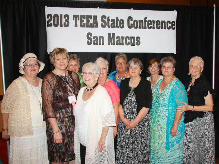 Nelda Van Hoose (left), Deana Sageser, Gena Doyle, Kaylene Layton, Ann Reilly, Martha Todd, Kay Taylor, Donnett Evans, Carol Coggin and Carol Williamson Photo: Courtesy Photo