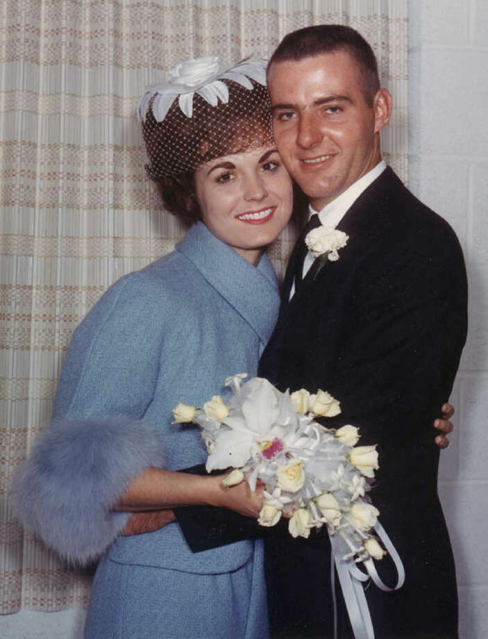 Mykie and Eddie Hill on their wedding day in September 1963 Photo: Courtesy Photo