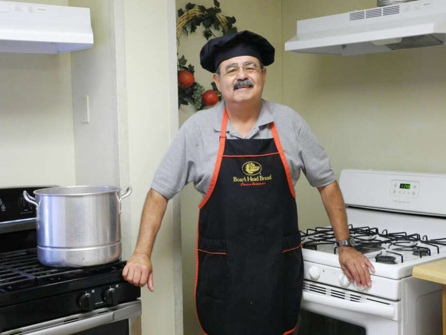 Joe El Faro, a recovering alcoholic, went from being a resident at Plainview Serenity Center to being a cook. Here he wears a chef's hat that CEO Paul Walker gave him. Photo: Gail M. Williams | Plainview Herald