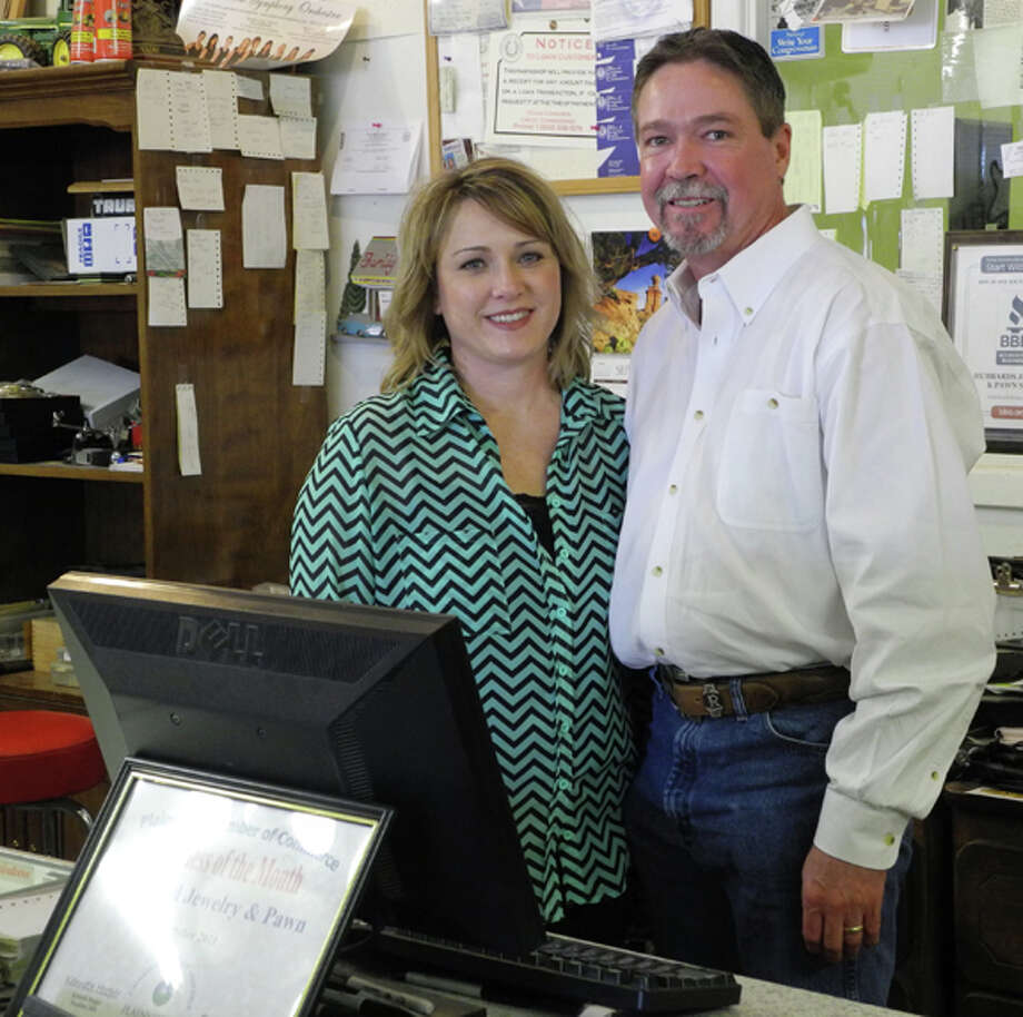 Tana and Rick Morton own and run Hubbard Jewelry and Pawn at 1511 West 5th Street. Photo: Gail M. Williams | Plainview Herald