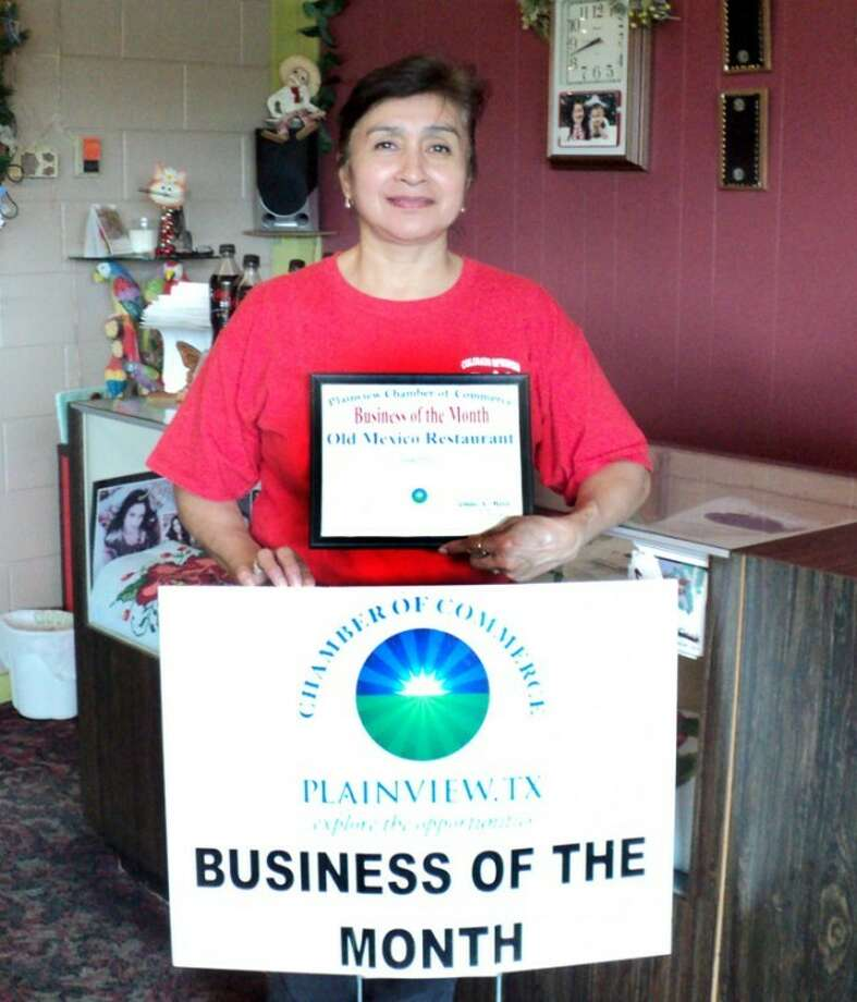 Old Mexico Restaurant and owner Anna Perez were honored Wednesday as Chamber of Commerce Business of the Month.