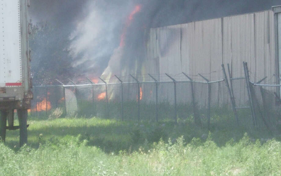 A fire discovered shortly after 1 p.m. Thursday sent billowing smoke from the IFCO pallet company at 3700 Quincy.