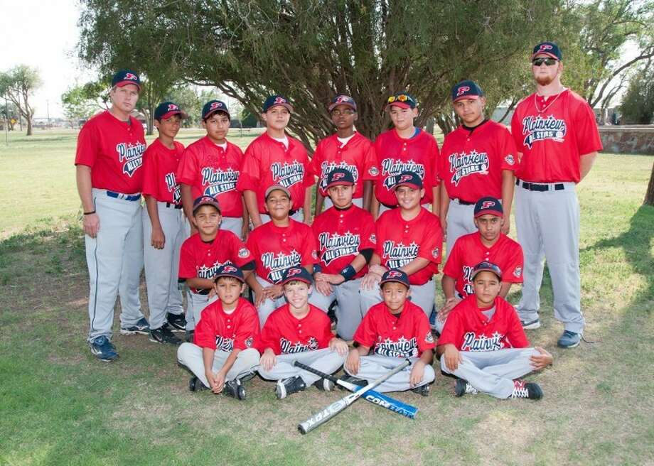 Optimist 11-12 year-old, 60-ft all-stars: from left top row; manager John Browning, Isaac Munoz, James Martinez, Felix Rocha, Broadrick Jackson, Jacob Hinojosa, Austin Sepeda, coach Gary Zacher. Middle; Jason Ramos, Juan Carlos Pacheco, Jacob Salinas, Trey Perez, Fabian Falcon. Bottom; Jeremy Castillo, Brooks Browning, David Rivera, and Isai Pacheco. Not pictured coach Todd Weldon Photo: Don Dickson Photography