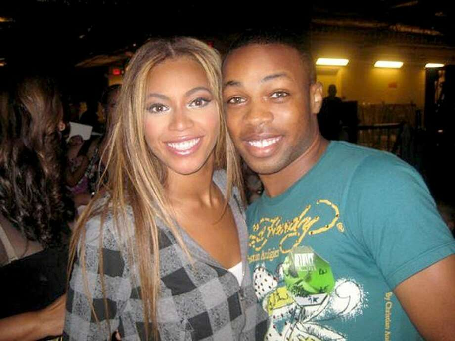 """Courtesy PhotosTodrick Hall and Beyoncé (above) in a photo taken backstage at a production of """"The Color Purple"""" on Broadway in 2009. Todrick (right) in his YouTube flash mob at Target dancing to Beyoncé's new single """"End of Time."""" See Todrick's and Beyoncé's videos on MyPlainview.com': Flash mob: http://youtu.be/9q7R9qFcrbIBeyonce video: http://youtu.be/YcpVm573pNk"""