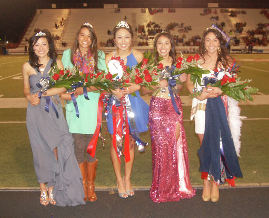 Lupita Quintenilla (center) was announced as 2013 Plainview High School Homecoming Queen during the Bulldogs' football game on Friday, Oct. 18. She was elected by the student body from a field of five coeds.