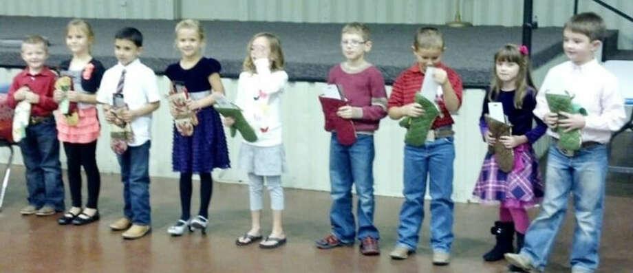 Clover Kids — Mason Hart (left), Hanna Bozeman, Brance Lecker, Elyse Taubert, Ava Harkey, Samuel Schueler, Carson Curry, Rachel Walden and Kelton Carver Photo: Courtesy Photo