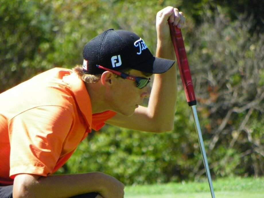 Plainview sophomore Thomas Wirth looks over a putt during a summer golf tournament. Wirth qualified to play in the North Texas Junior PGA Ewing Automotive Tour Championship in McKinney on Monday and Tuesday. Photo: Courtesy Photo By Betsy Lewis
