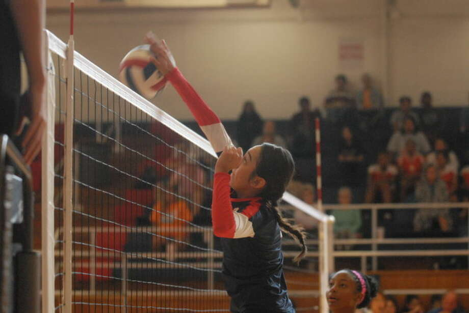 Plainview's Lupita Quintanilla was voted the Hitter of the Year in District 4-4A. The senior led the Lady Bulldogs in kills and was the team's go-to player in clutch situations. She was one of seven Plainview players honored on the all-district teams. Photo: Skip Leon/Plainview Herald