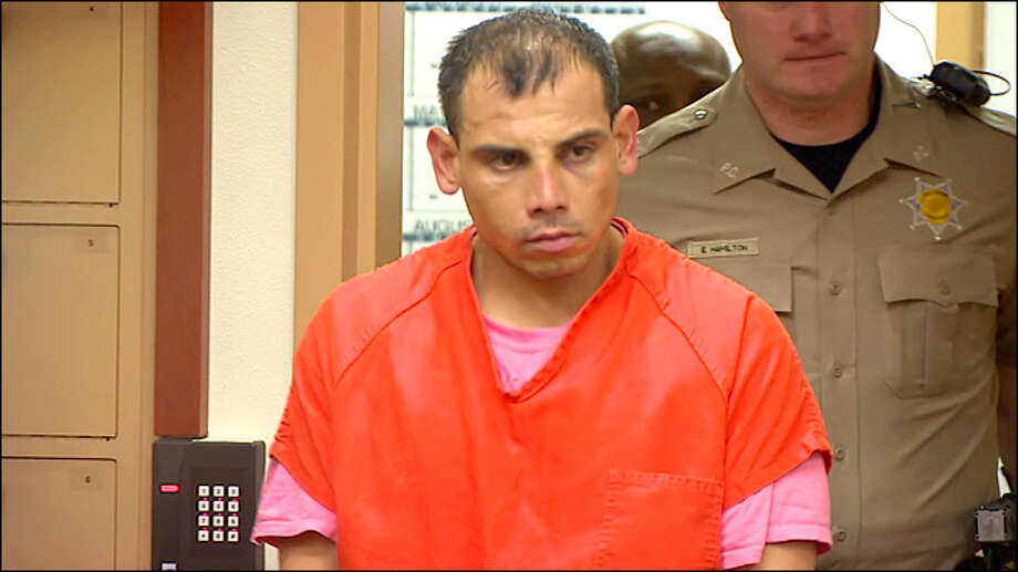 KOMO-TV PhotoFormer local resident Refugio Sanchez appears in a Washington state court after being charged with second-degree murder in the death of his girlfriend.