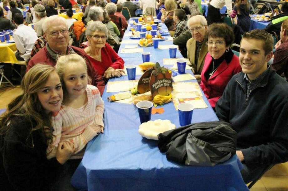 Pictured are Tanner, Ashlynn and Kateley Morton with their grandparents at PCA Grandparents' Luncheon. Photo: Shelli Lawson | Courtesy Photo