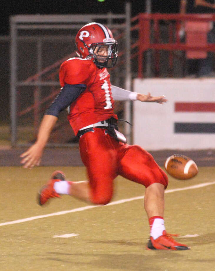 Plainview's Paxstyn Oldfield was a unanimous choice for the first team All-District 4-4A punter. Photo: Skip Leon/Plainview Herald