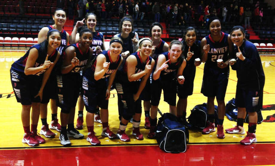 The Plainview girls basketball team won the championship at the Levelland tournament with a 42-38 victory in the title game against the host schoool. Members of the Lady Bulldogs are front row (from left) Alyssa Gonzales, Khyra Riddley, Jaden Gonzales, Stacey De La Garza and Meredith McDonough. Back row (from left) Lizette Ramirez, Karli Wheeler, Shalee Bennett, Carley Hardage, Brittany Rincon, Taivia Hearn and Kristen Chapa. Photo: Courtesy Photo