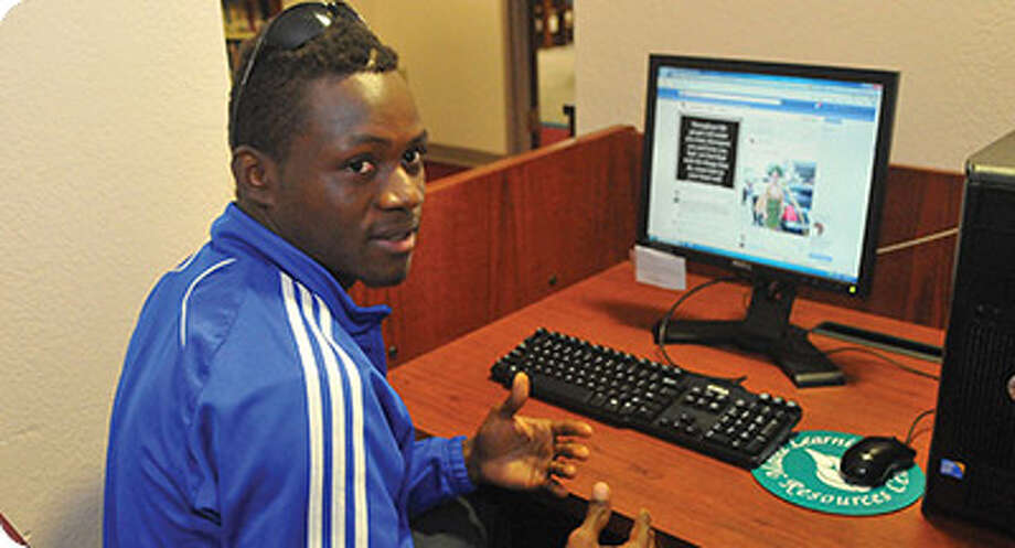 Wayland Baptist University soccer player LaMin SaWaneh, originally from Sierra Leon, discusses his blog How I View Africa. SaWaneh is using social media to combat misconceptions and stereotypes about his home country. Photo: Wayland Baptist University Photo  / 2005 Stephen Allen Photography