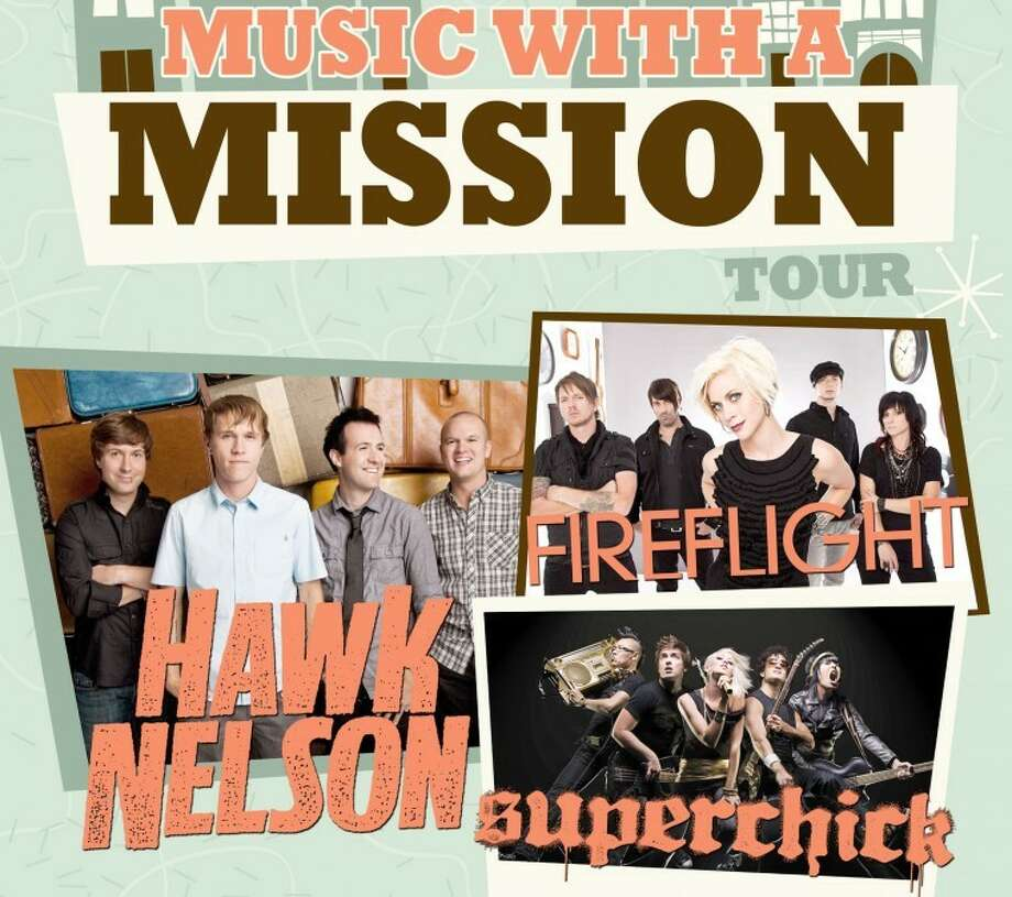 Hawk Nelson, Fireflight and Superchick will headline a free concert Wednesday at Wayland Baptist University. The concert starts at 5:30 p.m. in Wayland's Hutcherson Center. Photo: KMWeb Designs