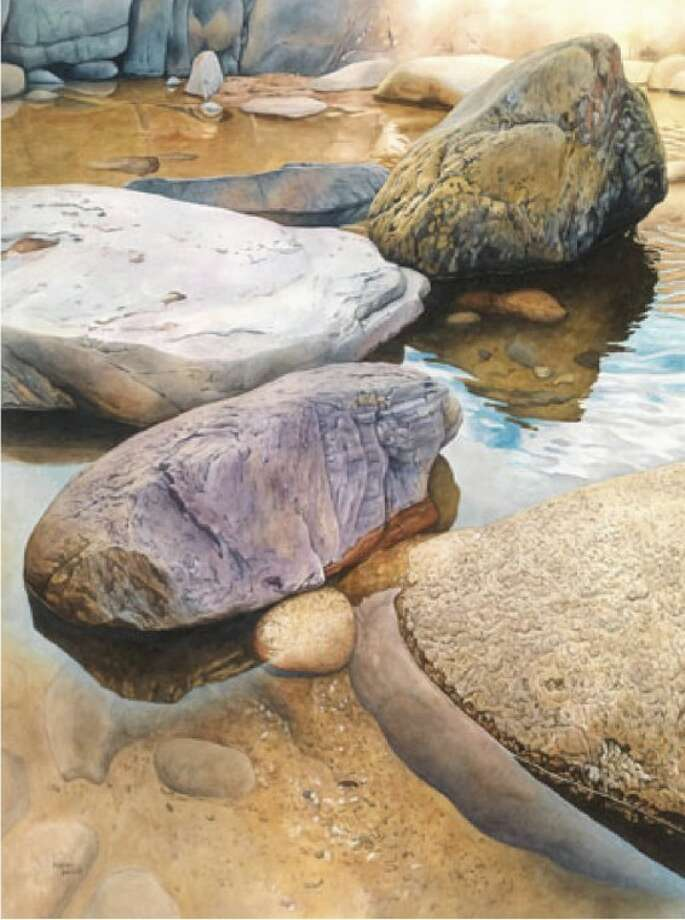 "This watercolor,""Boulders"" by Karen Benco, of Allentown, Pa., was awarded theNicholas Reale Award."