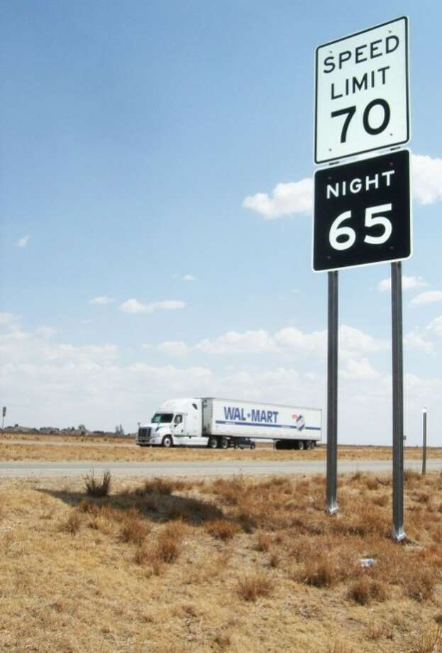 One of the new laws that went into effect Thursday was the repeal of the 65 mph nighttime speed limit as well as the reduced speed limit for trucks. The state is studying increasing the speed limit to 75 mph, although that won't be effective until signs are in place. Photo: Kevin Lewis