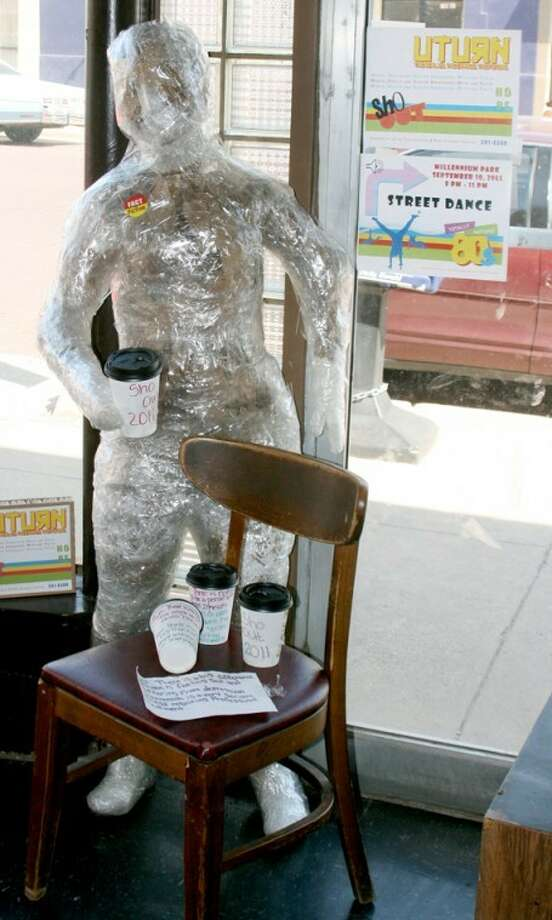 This mannequin along with five others are on display at various businesses around Plainview along with suicide facts and myths. The mannequins will be displayed until Friday and then be at Sho Out in Millennium Park on Saturday. Photo: Courtesy Photo