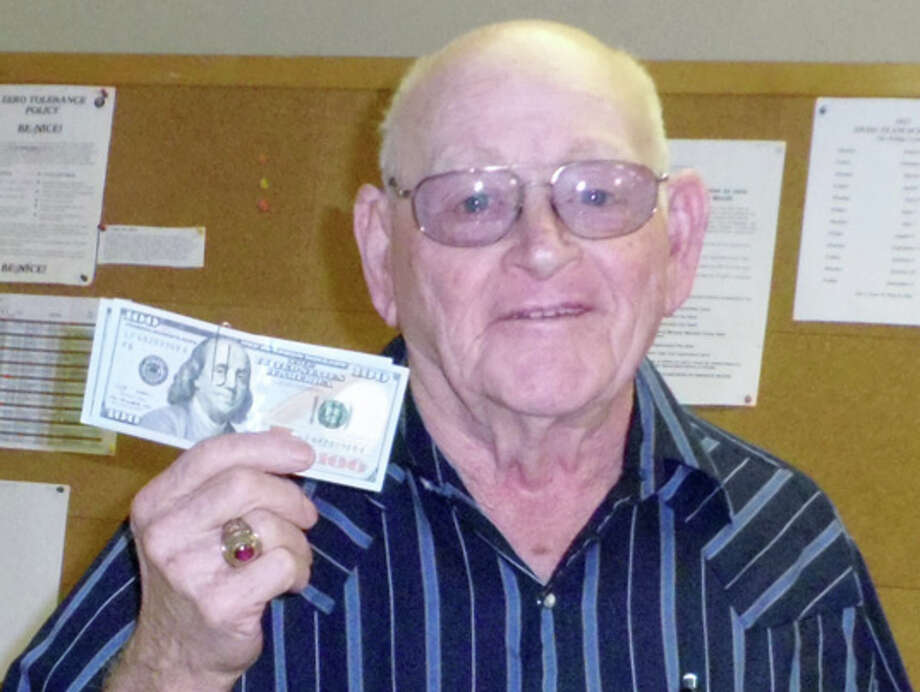 Billy Kennedy, $200 winner of the Senior Citizens Center cash drawing Photo: Courtesy Photo | Norma Casanova