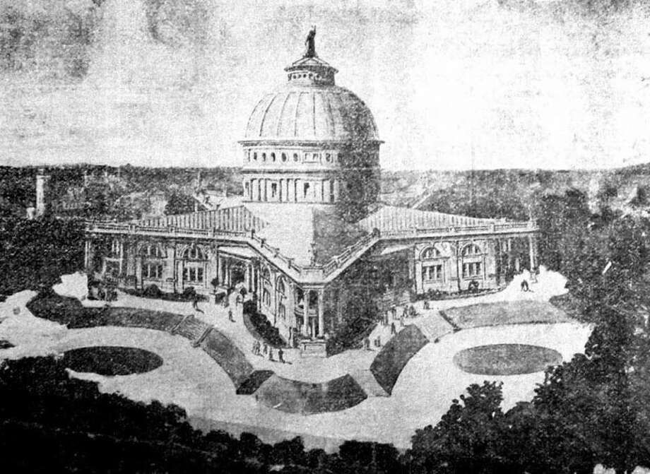 This illustration, published in the Hale County Herald in 1908, was the structure planned for the Wayland Literary and Technical Institute. It was to be an exact duplicate of the Texas building at the St. Louis World's Fair. The illustration was provided by the Ansley Realty Company.