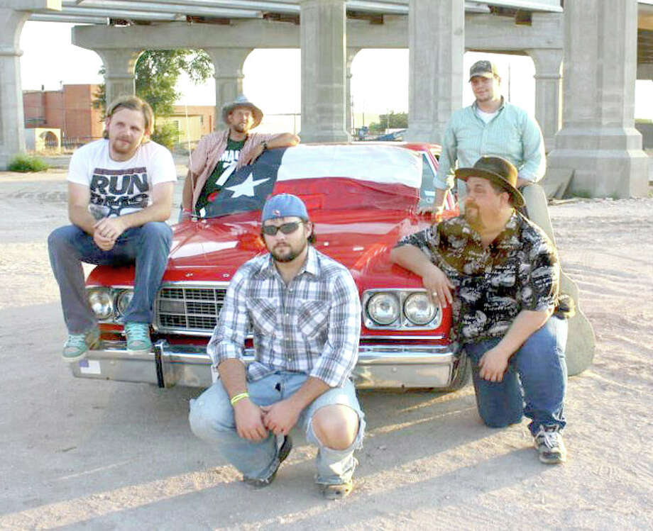 Twisted Road, which will perform Saturday night for a dance during the Floyd and Surrounding Counties Fair, includes Bryan Cooper (left), Danny Huggins, Cole Patton, Danny Patterson and Jeff Molzow (kneeling right). Patton, Huggins and Cooper are from Lockney while Patterson is from Farwell and Molzow is from Lubbock. Admission for the dance, which begins about 9:30 p.m. Saturday at the fairgrounds in Lockney, is $5 per person.