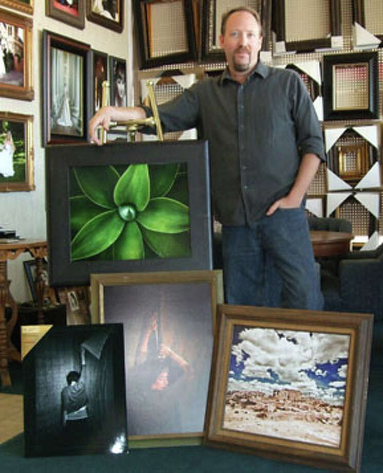 Chris Hanoch uses the camera and digital imaging to create a variety of images in a variety of styles. Photo: Gail M. Williams | Plainview Herald